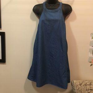 EUC Lulu's Apron Style halter dress sz S